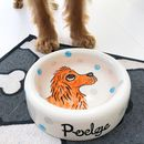 Personalised Dog Ceramic Water Bowl