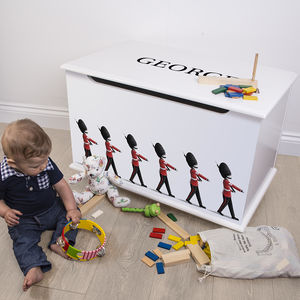 Personalised Toy Box London Design