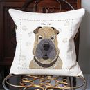 Shar Pei Personalised Dog Cushion Cover