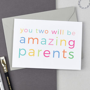 Amazing Parents New Baby Card - new baby cards