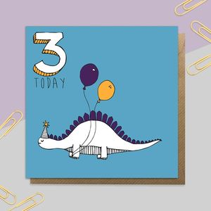 Dinosaur Age Card: Ages One To 10