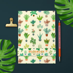 Tropical Plants Yellow Notebook