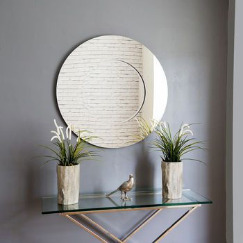 Lyon Round Contemporary Mirror