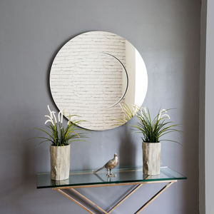 Lyon Round Contemporary Mirror - mirrors