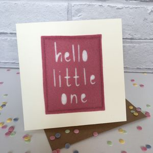 Hello Little One New Baby Card - new baby & christening cards