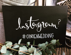 Personalised Instagram Hashtag Chalkboard - room signs