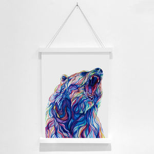 Bear Pencil Illustration Fine Art Print - drawings & illustrations