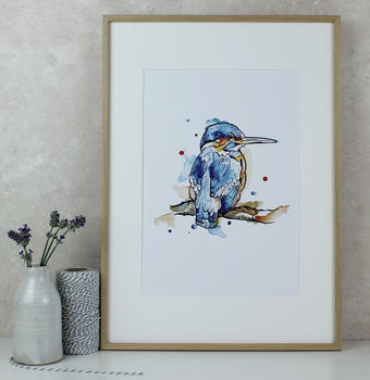 Kingfisher Watercolour Art Print