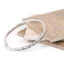 Mother And Daughter/Son Message Bangle