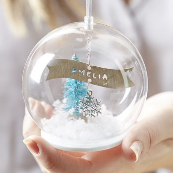 Personalised Banner Glass Bauble