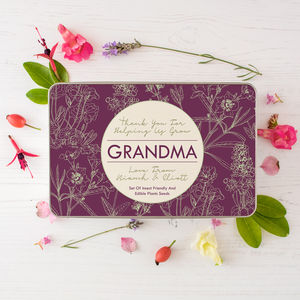 Personalised Wild Flowers Seed Kit For Grandma