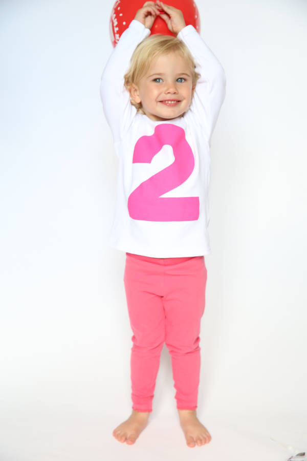 I Am Two Hot Pink Girls 2nd Birthday T Shirt