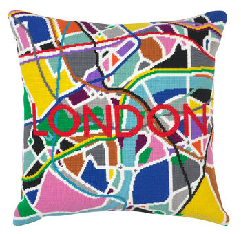 London Tube City Map Needlepoint Kit
