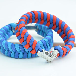 Two Tone Woven Men's Bracelet