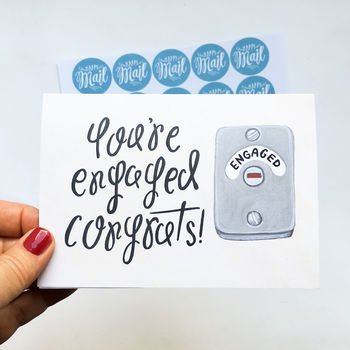 'You're Engaged' Humorous Engagement Card
