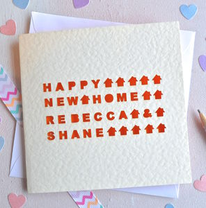 Personalised Laser Cut Home Card