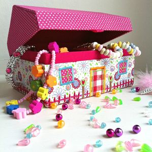 Personalised Dolls House Jewellery Box - bedroom