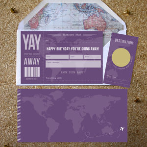 Birthday Scratch Off Boarding Pass - shop by category