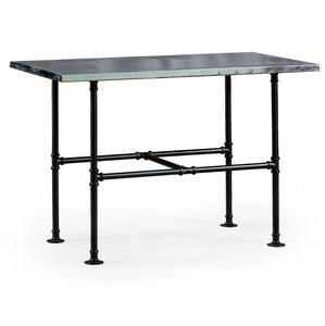 Industrial Metal Table With Iron Legs - dining room