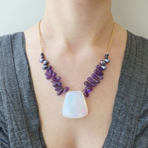 Opalite Statement Necklace