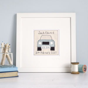 Personalised Car Picture - children's pictures & paintings