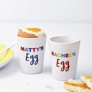 Child's Personalised Ceramic Egg Cup - egg cups & cosies