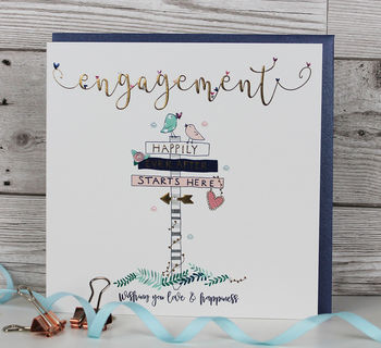 Luxury Engagement Card