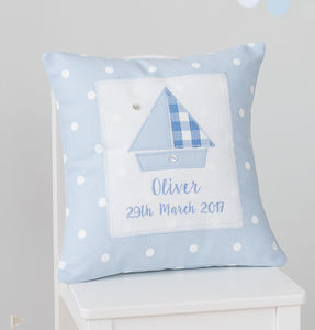 Personalised New Baby Boy Gift - cushions