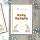 Personalised Baby Shower 'Thank You' Postcards