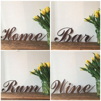 Rusty Metal Word Signs Plaques