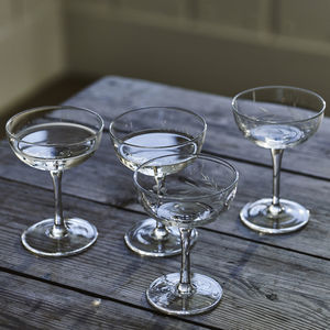 Dillie Champagne Saucers, Set Of Four - 50th birthday gifts