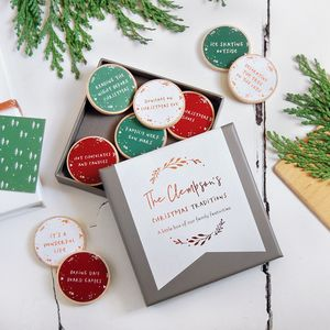 Personalised Family Christmas Traditions Foiled Tokens - shop by category