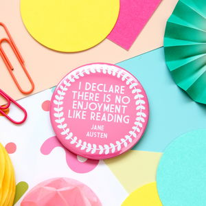 Jane Austen Quote Pocket Mirror, Keyring Or Badge - compact mirrors