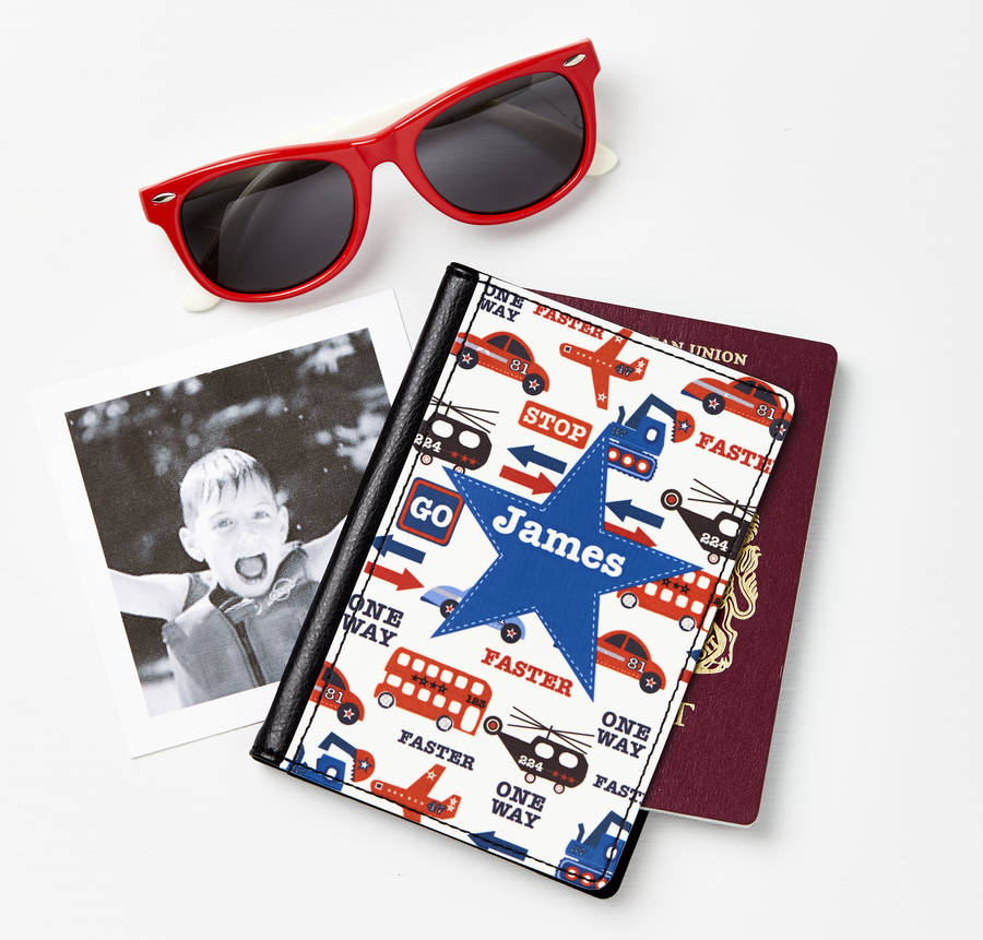Boys Personalised Passport Cover