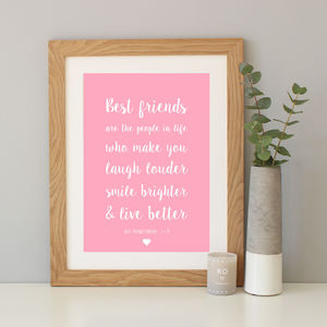 'Best Friends' Script Font Quote Print