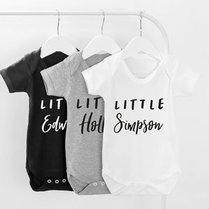 Little Name Personalised Baby Grow - baby & child