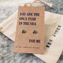 Only Fish In The Sea Silver Earrings