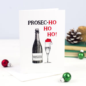 Funny Prosecco Christmas Card - christmas card packs