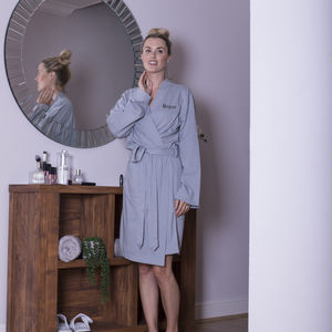 Lightweight Jersey Cotton Dressing Gown - lingerie & nightwear