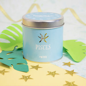 'Pisces' Zodiac Lavender Garden Scented Candle - candles & home fragrance