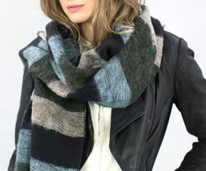 Personalised Cosy Yak Scarf In A Soft Stripe - scarves