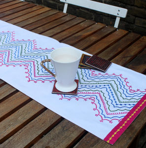 Chevron Trails Table Linen - kitchen