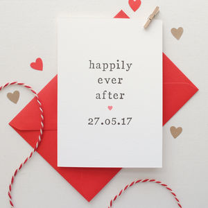 Personalised 'Happily Ever After' Wedding Card - wedding cards & wrap