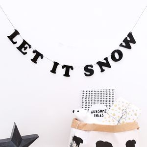Handmade Acrylic Let It Snow Garland - garlands & bunting
