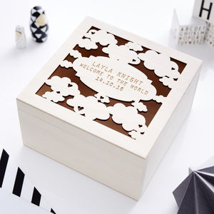 Starry Night Personalised Engraved Keepsake Box - cards & wrap