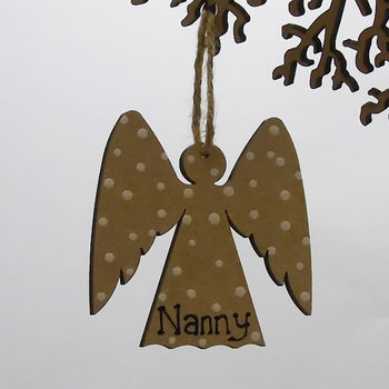 Angel Personalised Christmas Decoration