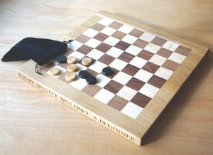 Personalised Wooden Chess Or Draughts Board - interests & hobbies
