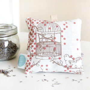 Dotty Bird Lavender Bag, Rose - home accessories