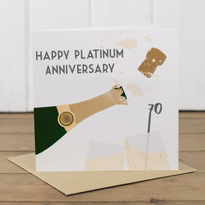 70th Platinum Wedding Anniversary Card - anniversary cards