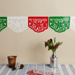 Set Of Five Mexican Poinsettia Christmas Stickers - christmas decorations